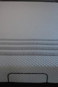 Sapira mattress stripes on a rize adjustable frame