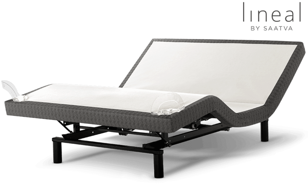 The saatva Lineal adjustable bed frame