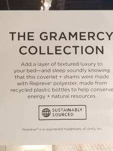 Repreve polyester is part of west elm's commitment to sustainability