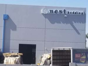 Ouside the Nest Bedding Factory
