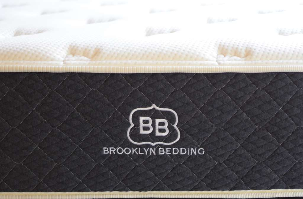 Brooklyn Bedding #bestmattressever from the front of the mattress