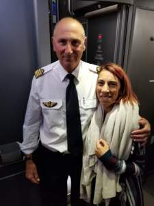 Rana Landreth and the captain of AF66