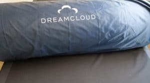 DreamCloud mattress in a bag on my bed