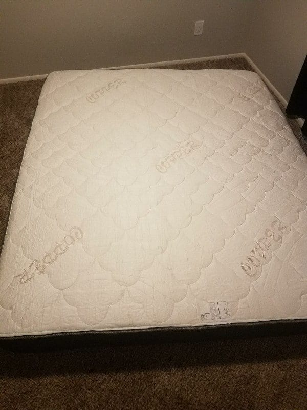 Amore Mattress just after unboxing