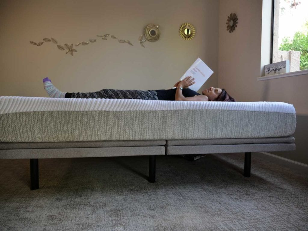 tomorrow sleep foam mattress and adjustable base
