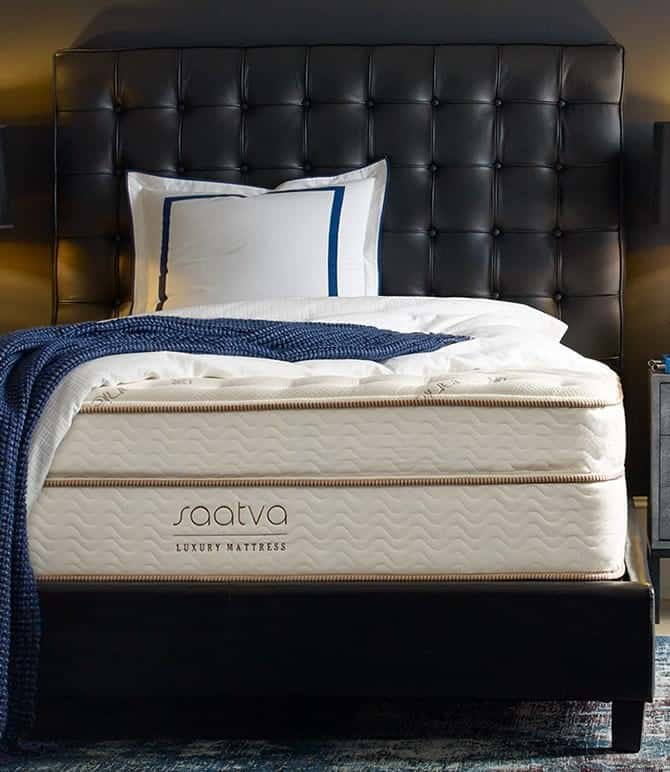 saatva mattress from their website, this isn't my room