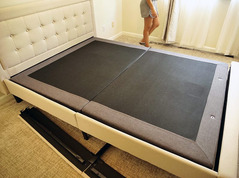 the nectar dreamcloud adjustable base fits inside a standard bed frame