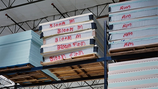 bloom mattress stacks at the factory
