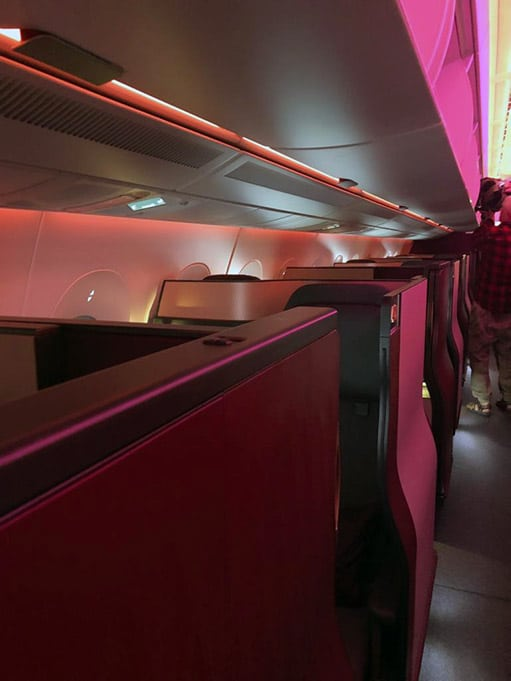 picture of first class qatar airlines 2019