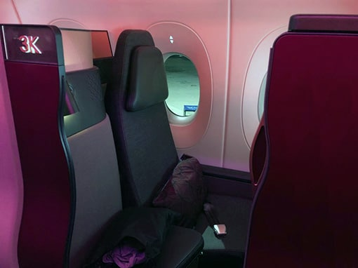 my sister's 1st class seat on qatar air